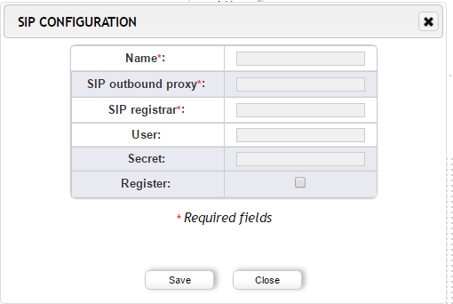 Screenshot - VoIP Gateway SIP Configuration